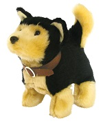 Baby Shepherd Dog Battery Operated Plush Toy
