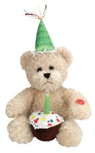 Blow-Out Birthday Bear with Candle Battery Operated Plush Toy 81056
