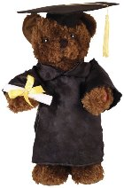 Dancing Graduation Bear Battery Operated Plush Toy