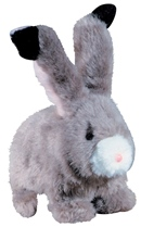 Grey Robbie Rabbit Battery Operated Plush Toy
