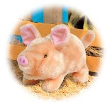 Battery Operated Pig Plush Toy