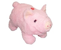 Pudgy Pig Battery Operated Plush Toy