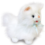 Plush Little White Kitty