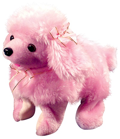 Magic Pink Poodle Battery Operated Plush Toy 81274