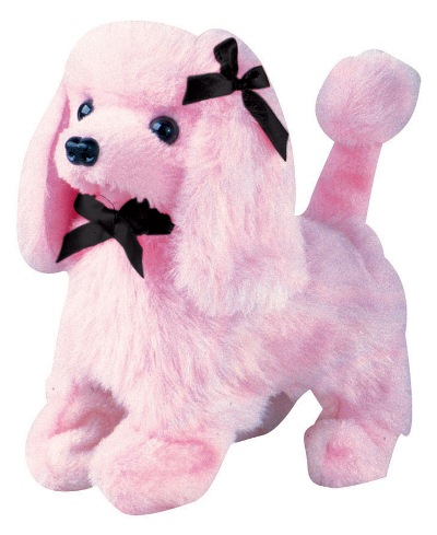 Pink Poodle Battery Operated Plush Toy