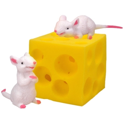 Stretchy Mice And Cheese Toy